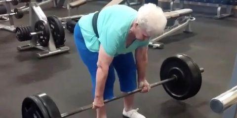 Strength training grandma