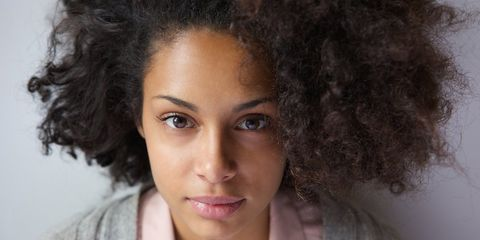 african american woman with beautiful hair