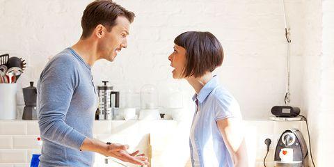 never shout divorce during spousal argument