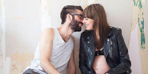 A happy pregnant couple
