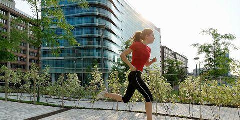 women running alone