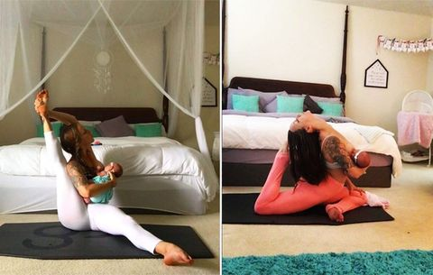 Watch This Mom Do Insanely Hard Yoga Poses While Breastfeeding