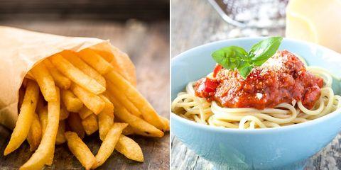 pasta versus french fries