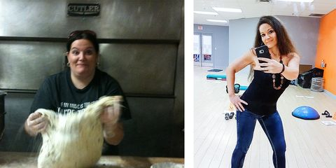 Jennifer Aube before and after