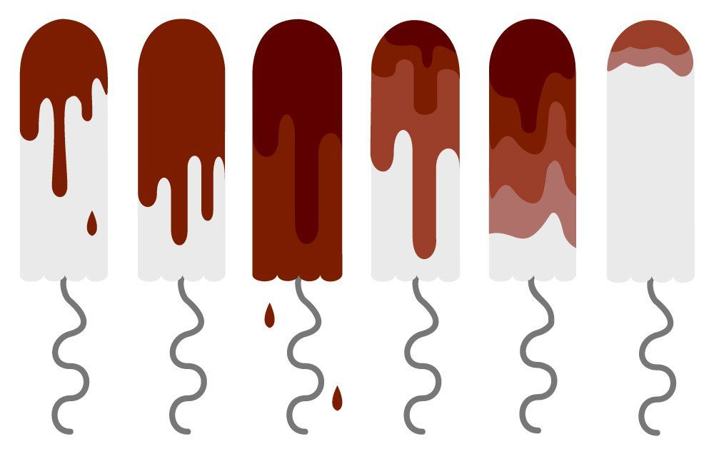 What does it mean if you spot after your period and the blood is very dark red or black?