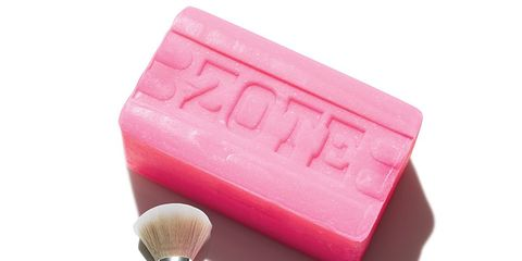 Zote soap for makeup brushes