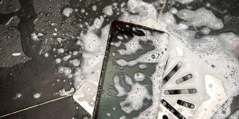 cellphone bath