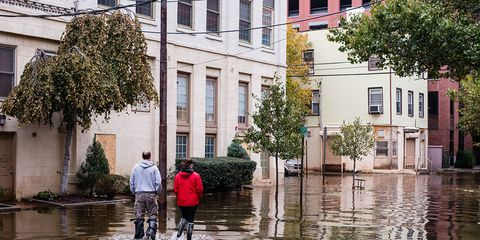 Destructive effects of climate change during Hurricane Sandy