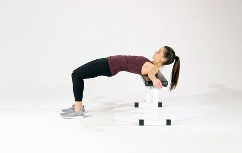 Glute Bridge With Bench Fitgif Friday Women S Health