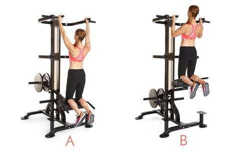 exactly how to use the assisted pullup machine at the gym