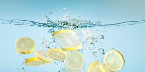 Lemon-lime, Lime, Lemon, Lemonade, Yellow, Citric acid, Citrus, Drink, Aqua, Sweet lemon,