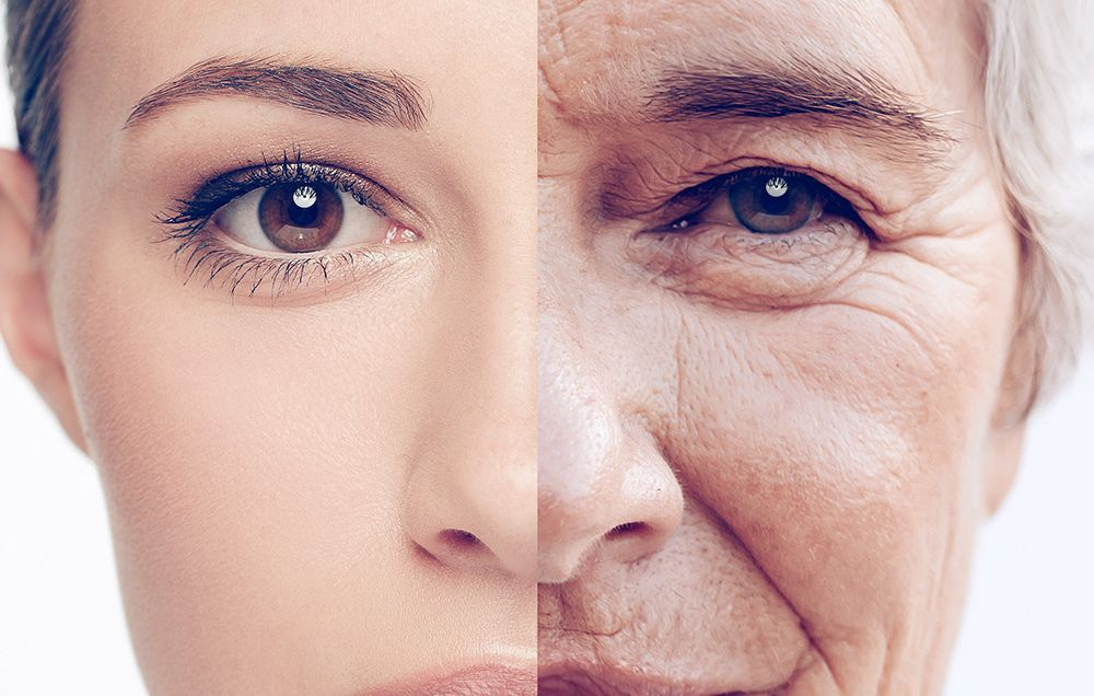 Sudden aging of face