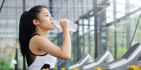 Drinking amino acids to boost workout