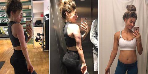 fitness blogger anna victoria belly bloat instagram
