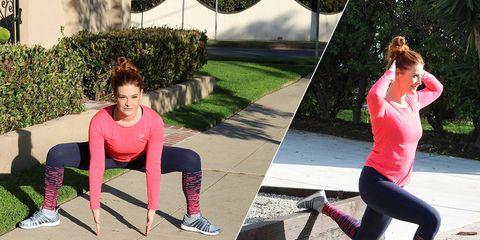 Holly Perkins outdoor butt workout
