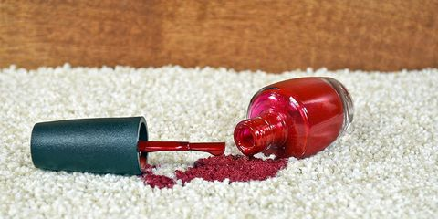 how to remove nail polish from carpet, fabric