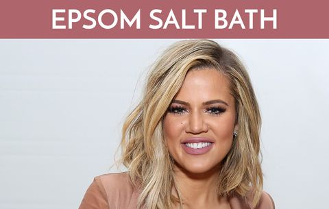 Khloe Kardashian's Epsom Salt Post-Workout Bath
