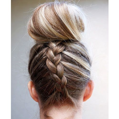 7 gorgeous ways to style wet hair dutch braided top knot solutioingenieria Image collections