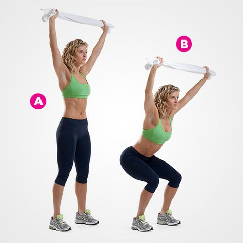Overhead Squat (with Towel)