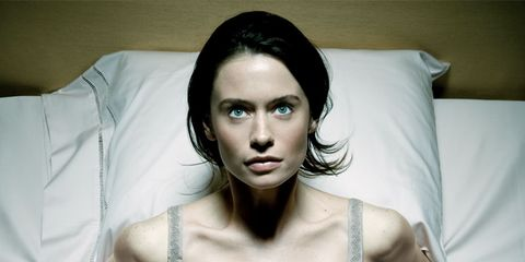 PANIC ATTACK: girl in bed