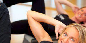 Core Workout: Woman Crunching