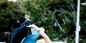 Women Denim: Jeans Out the Car Window