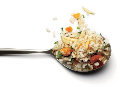 Brown Rice Pilaf with Apricots and Almonds