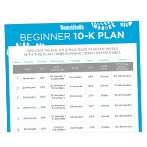Print It: Beginner 10-K Training Plan