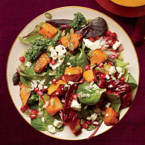 Roasted Pumpkin and Pomegranate Salad with Pumpkin Seed Oil Vinaigrette