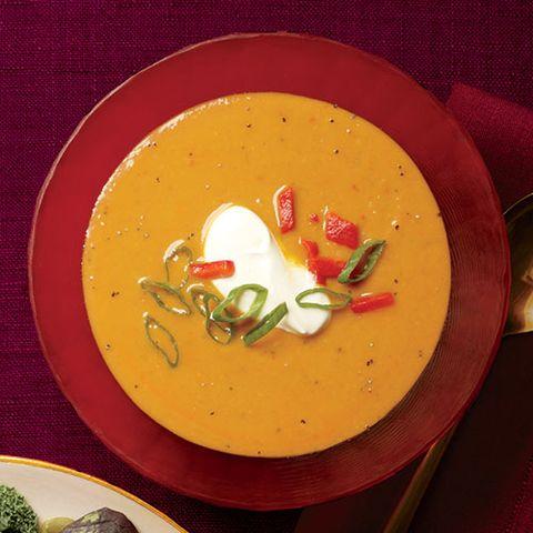 Creamy Pumpkin-Peanut Soup