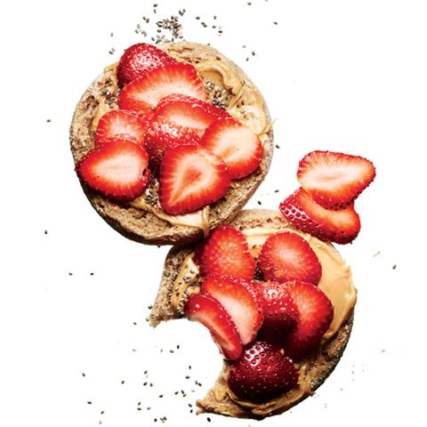 Breakfast idea: berry English muffin