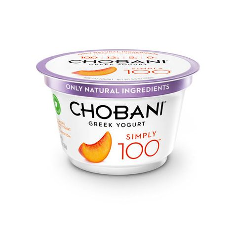 Chobani Simply 100 Peach Greek Yogurt