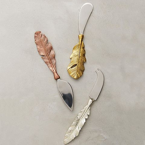Feather Cheese Knives