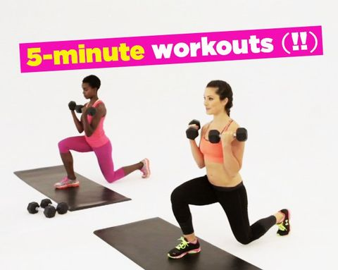 12 Workouts You Can Do in Only 5 Minutes (Yep, 5!)