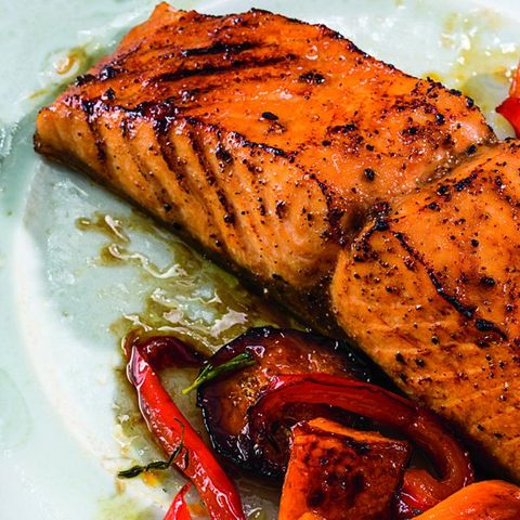 Asian Salmon with Coriander, Ginger, and Honey