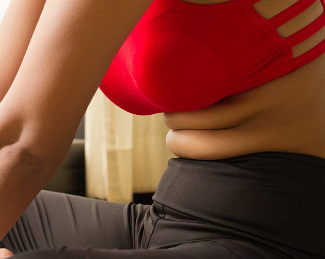Flat mature belly