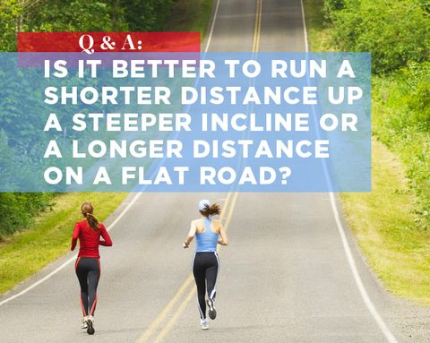 Q&A: Is It Better to Run a Shorter Distance Up a Steeper Incline or a Longer Distance on a Flat Road?