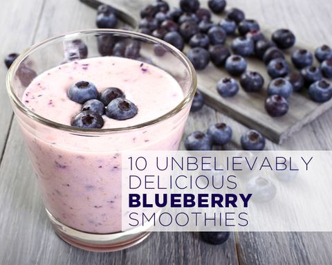 10 Unbelievably Delicious Blueberry Smoothies
