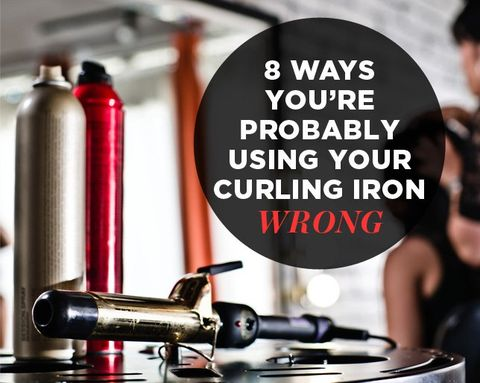 8 Ways You're Probably Using Your Curling Iron Wrong