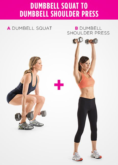 Dumbbell Squat to Dumbbell Shoulder Press