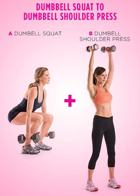 Dumbbell Squat to Dumbbell Shoulder Press