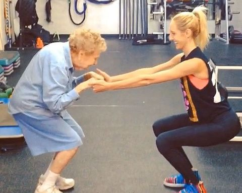 Best Exercise Video Ever: Watch This 97-Year-Old Woman Doing Squats