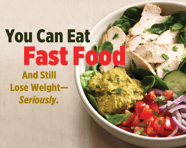 You Can Eat Fast Food And Still Lose Weight