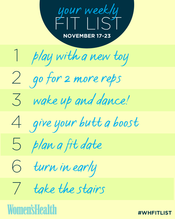Your Weekly Fitness Checklist: November 17–23