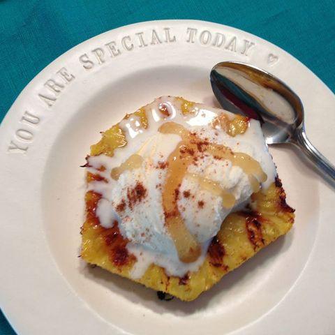Healthy Dessert Recipe: Grilled Pineapple Sundaes