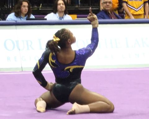 Watch This Incredible Gymnast Score Perfectly On Her Floor Routine