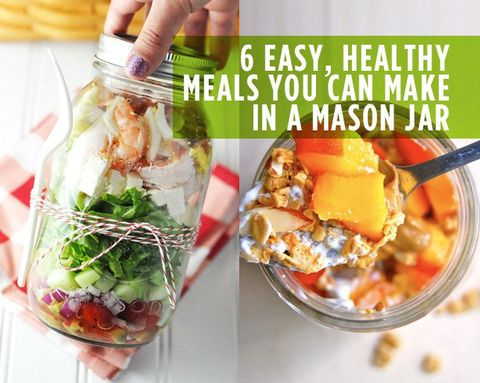 6 Easy, Healthy Meals You Can Make in a Mason Jar