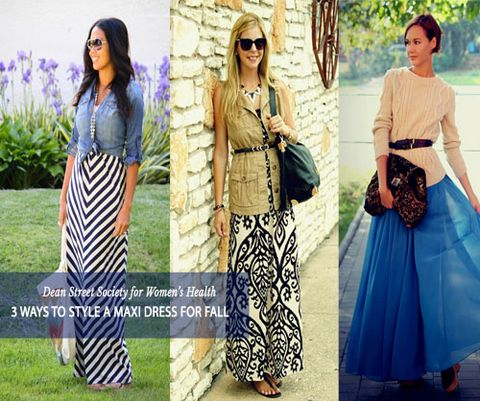 3 Ways to Wear a Maxi Dress in the Fall