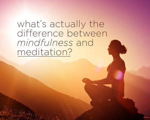 What's Actually the Difference Between Mindfulness and Meditation?