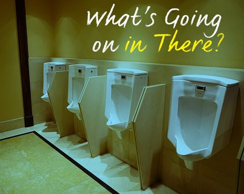 Everything That's Ever Baffled You About Guys and Urinals—Explained